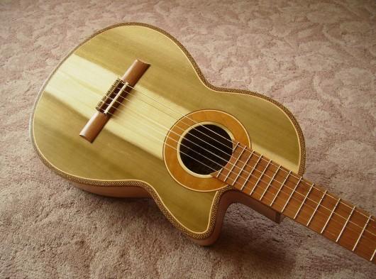 完成菊ギター第16号ボディー回転13