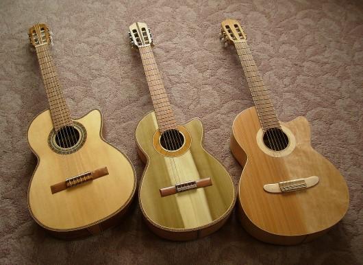 完成菊ギター第16号14号15号と表並び