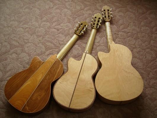 完成菊ギター第16号14号15号とウラ並び