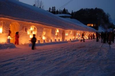雪旅籠の灯り①