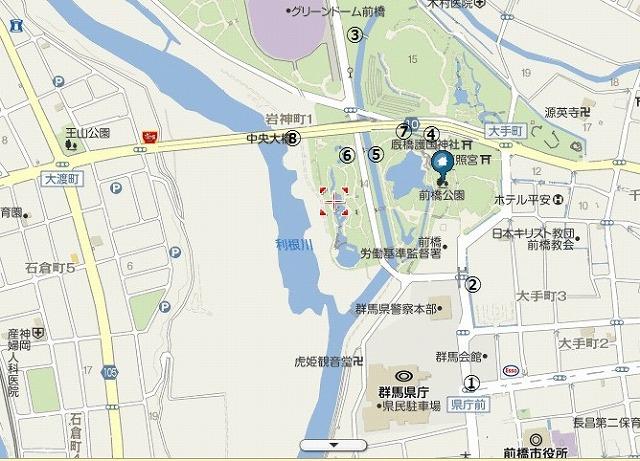魔法少女まどか☆マギカ 聖地巡礼群馬 県庁 前橋公園 親水公園 写真017
