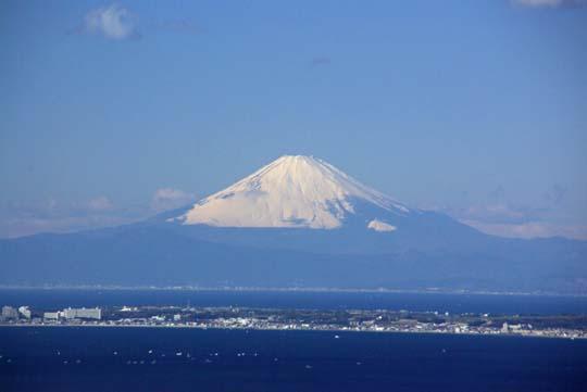 鋸山から見た富士山