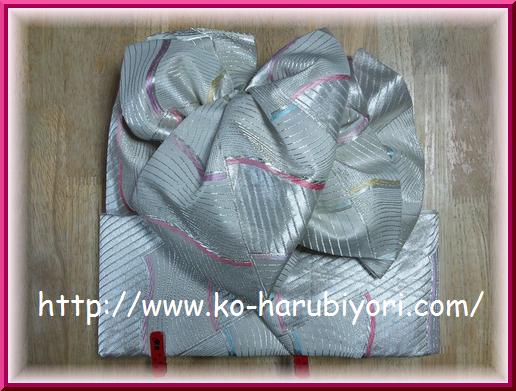 改良枕の創作帯結び1