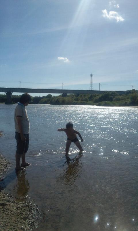 矢作川にて