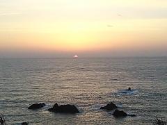 20131124 夕焼けの四島