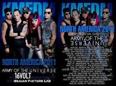 kmfdm north america poster