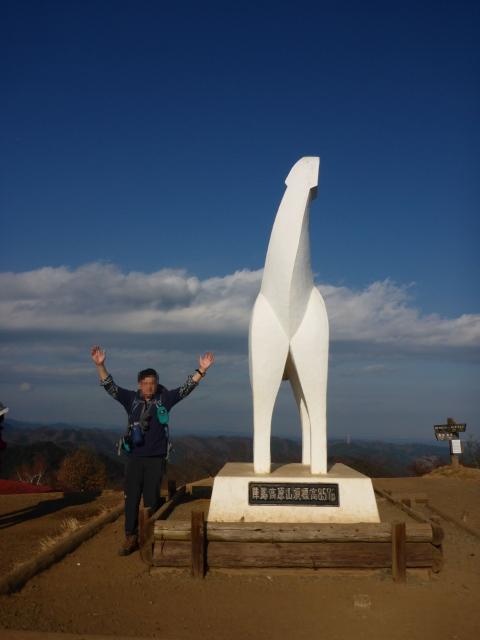 25陣馬山山頂いつものバンザイ1402