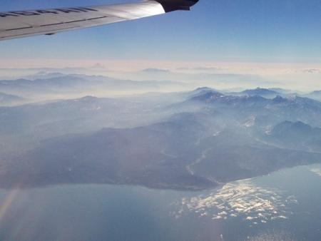 日本海から富士山