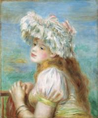 レースの帽子の少女