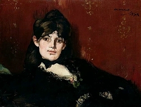 横たわるベルト・モリゾの肖像
