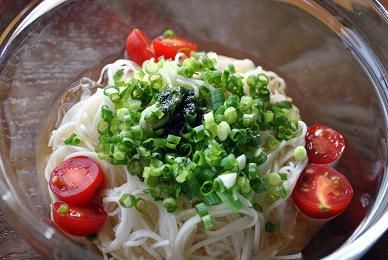 バジル素麺アップn