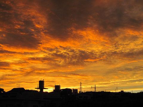 2012年8月21日夕焼け