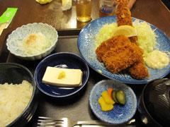 海老・イカフライ定食