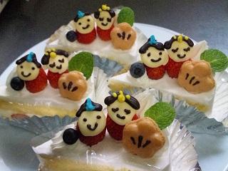 ひなまつりショートケーキ