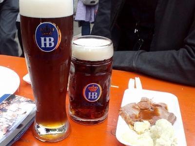 ビールビールvvグラスが結構大きいです