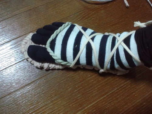 布草履編んでみましたww