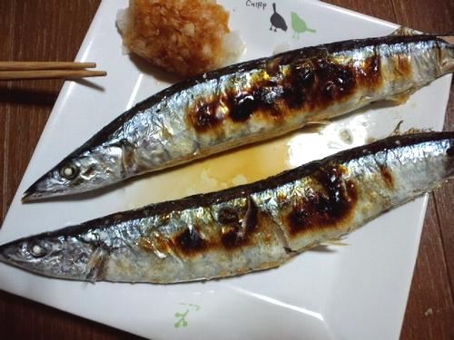 秋刀魚の塩焼き^^
