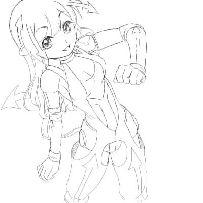 矢印少女1