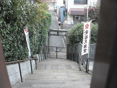 安居神社の境内からみおろします