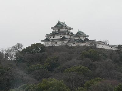 会場から見た和歌山城です