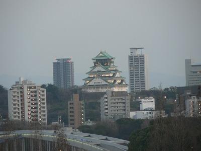会場からみた大阪城です