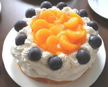 みかんと葡萄のケーキ