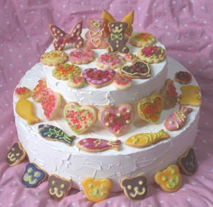 食べれるクッキーケーキ
