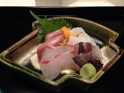桜鱒木の芽焼き、ゆりね梅肉和え