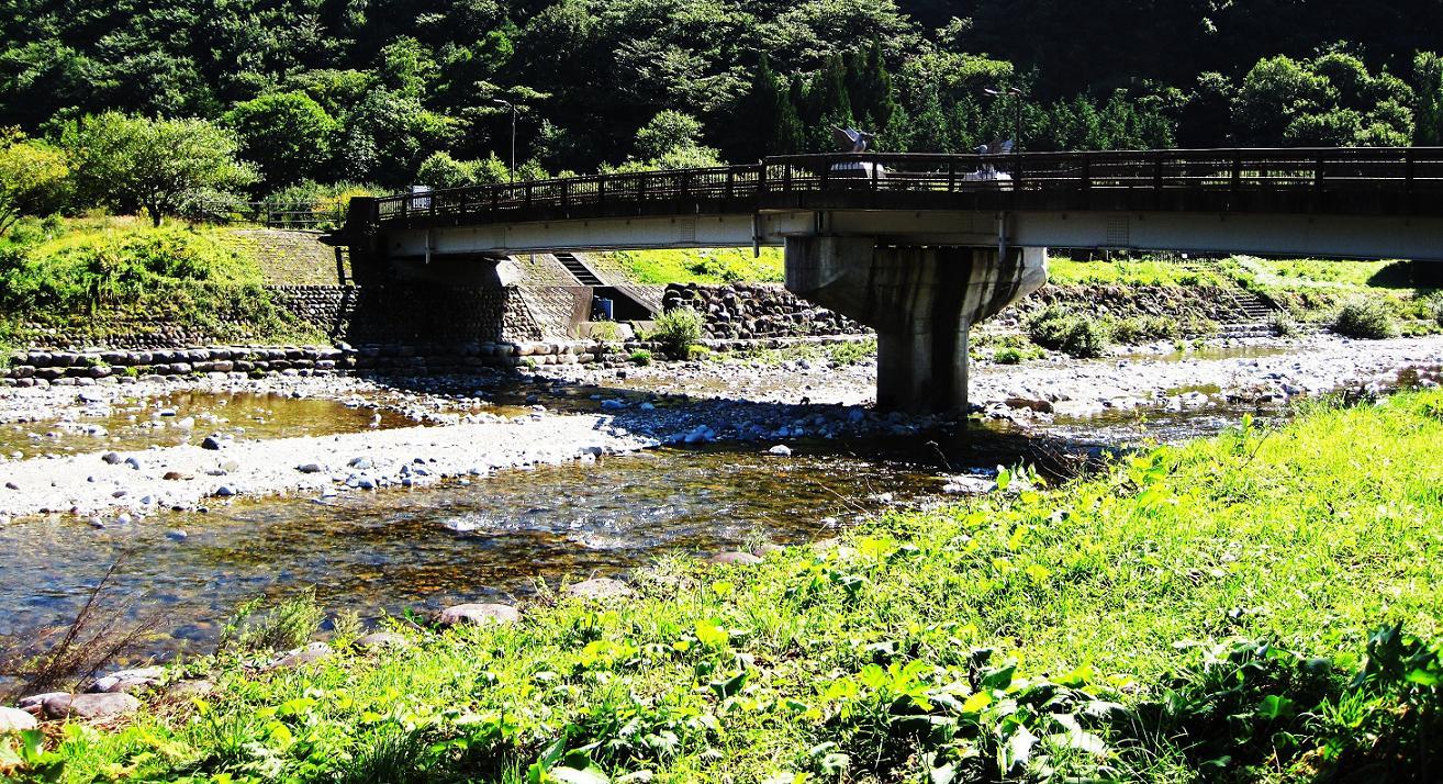 浅瀬にかかる橋