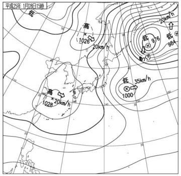 1301281500天気図