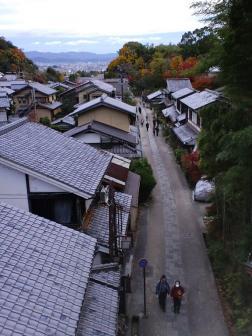 鳥居本 愛宕街道の風景 京都市内を望む