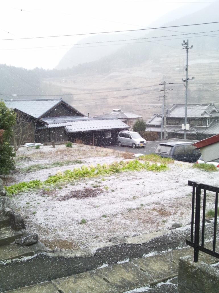 高原の雪景色