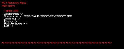 M33 Recovery Menu