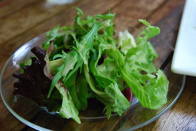 葉っぱのサラダ