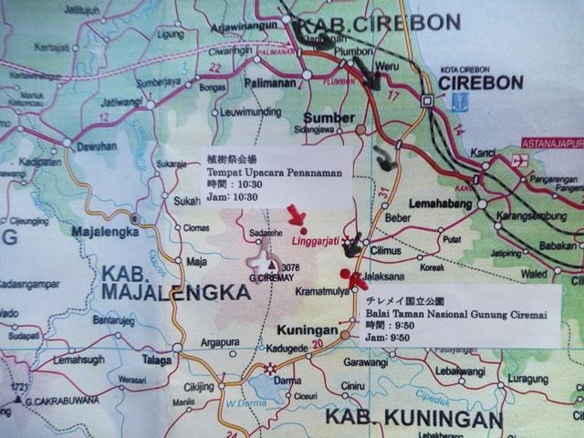 チレメイ山 位置図