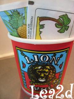 2008年1月 試飲用のライオンンくんミニミニカップもらっちゃった~♪