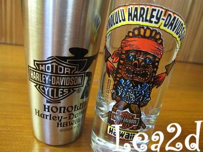 2009年8月 パシフィック・ハーレー・ダビッドソン(オアフ島)で購入したショットグラス