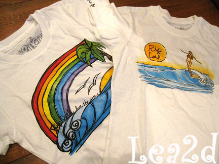 2010年8月 Surf-n-Sea&RIP CURL&Heather Brown のTシャツ