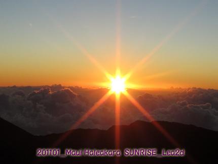 2011年1月 Maui-Haleakala(Sunrise)