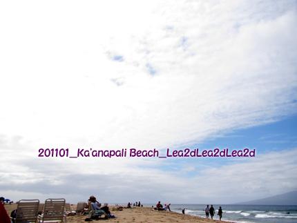 2011年1月 カアナパリアリイ目の前には、3マイル続くKa'anapali Beach(カアナパリ・ビーチ)