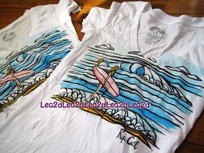 2011年1月 Surf-n-Sea&RIP CURL&HB のTシャツ