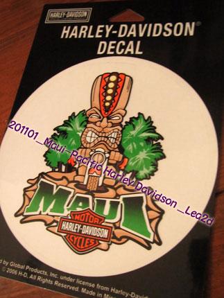 2011年1月 Pacific Harley Davidson,sticker