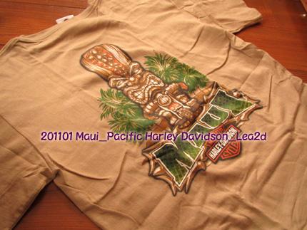 2011年1月 マウイ島 Pacific Harley Davidson のティキT