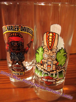 200908&201101 Pacific Harley Davidson-TIKI Shot Glass