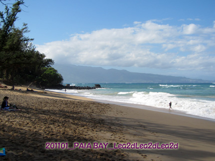 2011年1月 マウイ島、パイアのビーチは、PAIA BAY(パイア・ベイ)</