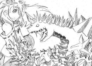 クリスタルドラゴンと女の子