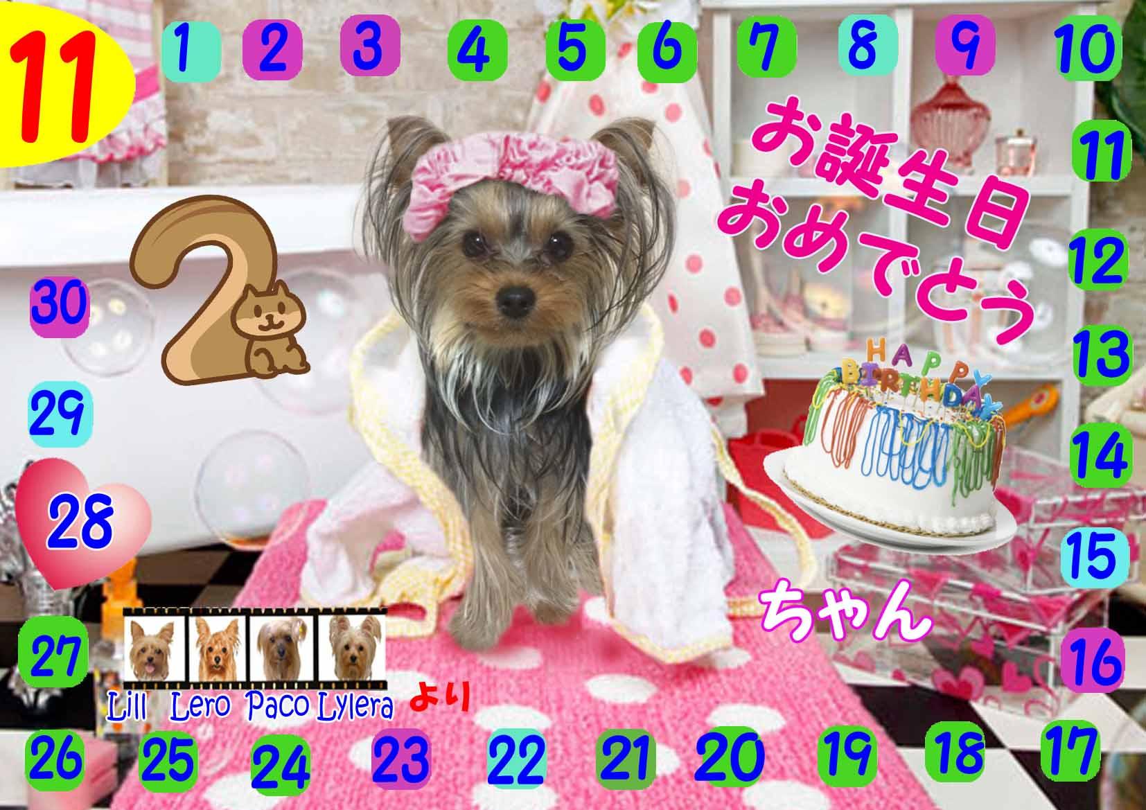 11-28-2014アガザちゃん誕生日カード