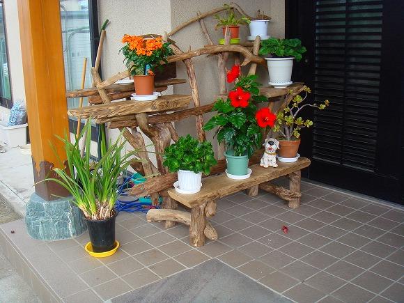流木ガーデン飾り棚