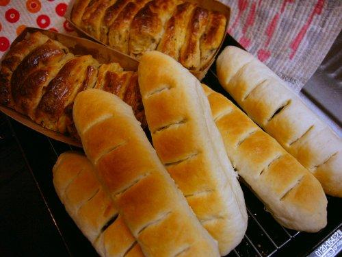 パンを焼きました。