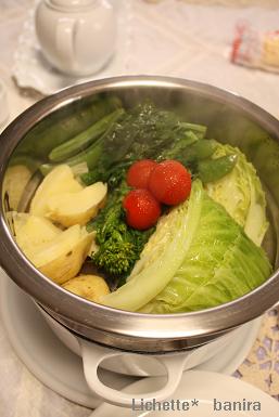 春野菜の蒸し料理